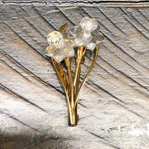 Swarovski Crystal Mini Daffodil Brooch